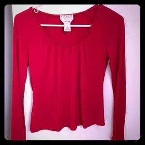 Talbots long sleeve red top size small